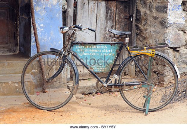 Rickety old bicycle